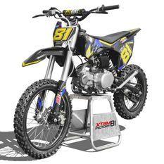 Dirt bike 125cc bleu 17/14 manuel 4 vitesses Spyder
