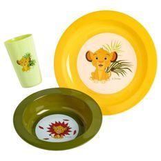 DISNEY Coffret repas 3 pieces Roi lion : assiette, bol et gobelet - En polypropylene