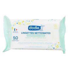 DODIE- Lingettes nettoyantes certifiées bio x50