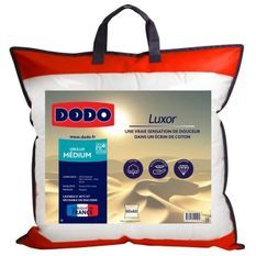DODO Oreiller LUXOR 60x60 cm - 100% Coton - Effet Duvet