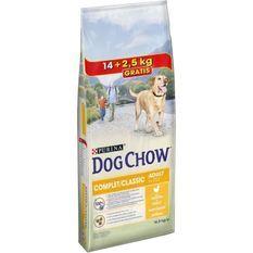 DOG CHOW Croquettes au poulet - Pour chien adulte - 14 kg + 2,5 kg gratuits