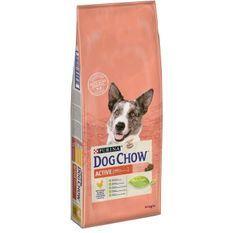 DOG CHOW Croquettes - Avec du Poulet - Pour chien adulte actif - 14 kg