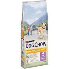 DOG CHOW Croquettes complet et classic avec de l'agneau - Pour chien - 14 kg