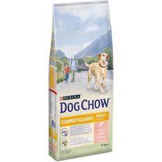 DOG CHOW Croquettes complet et classic avec du saumon - Pour chien - 14 kg