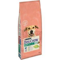 DOG CHOW Croquettes Light - Avec de la dinde - Pour chien adulte - 14 kg
