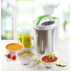 DOMO DO499BL Blender chauffant Soup Maker – Inox et Vert