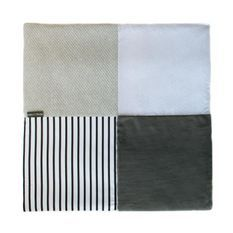 DOUDOU ET COMPAGNIE Tapidou - Tapis mosaique blanc et gris