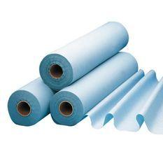 Draps de protection Aleses plastifiés pour lit et lit d'examen LCH - Rouleau 180 Sections de l 50cm L 38cm - Longueur du rouleau 65m
