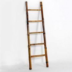 Échelle portante 5 niveaux bambou L 48 cm
