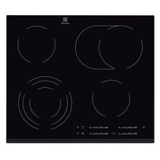 ELECTROLUX EHF6547FOK Table de cuisson vitrocéramique - 4 zones - 7100W - L59 x P52cm - Revetement verre - Noir