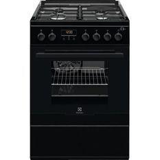 ELECTROLUX EKM66700OK Cuisiniere mixte - 3 foyers gaz et 1 électrique - 54 L - A - L 60 cm - Noir