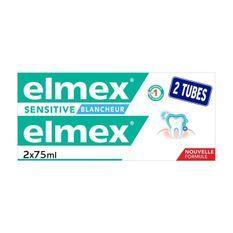 ELMEX Dentifrices Sensitive Dents Sensibles Blancheur duo pack - 2 x 75 ml