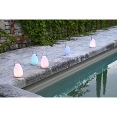 Enceinte Bluetooth lampe 3 LED RGB pilotable - D 14 x H 20 cm