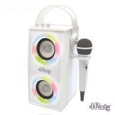 Enceinte Tendance Bluetooth portable avec micro et effets lumineux iParty LEXIBOOK