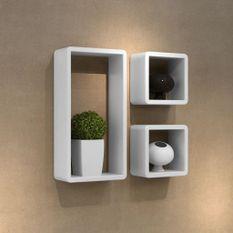 Ensemble de 3 étagères cube