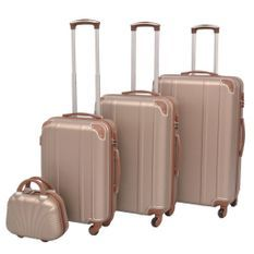 Ensemble de valises à roulettes quatre pièces Champagne