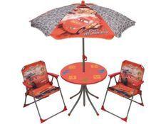 Ensemble Table, 2 chaises et parasol Cars