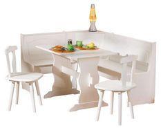 Ensemble table avec banc et chaises pin massif clair Vencia