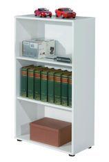 Étagère 3 niveaux bois mélaminé blanc Diana H 110 cm