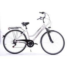 EXODUS Vélo aluminium trekking 6 speed D blanc