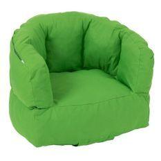Fauteuil bas polyester vert Veeda