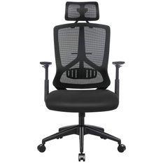 Fauteuil de bureau en toile noir pivotant à 360°