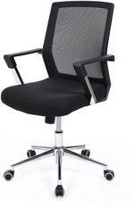 Fauteuil de bureau pivotant hauteur réglable polyester noir