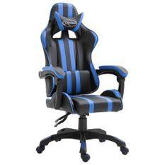 Fauteuil jeux video Xtreme simili cuir noir et bleu