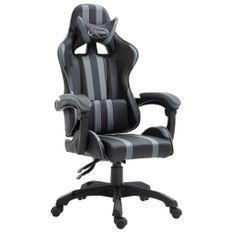 Fauteuil jeux video Xtreme simili cuir noir et gris