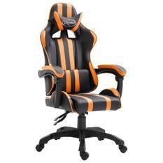 Fauteuil jeux video Xtreme simili cuir noir et orange