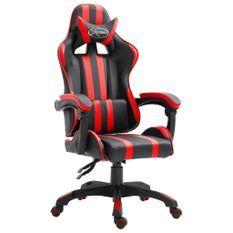 Fauteuil jeux video Xtreme simili cuir noir et rouge