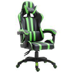 Fauteuil jeux video Xtreme simili cuir noir et vert