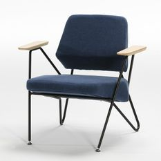 Fauteuil moderne toile bleue Viaro
