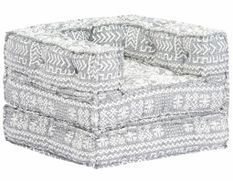Fauteuil modulable tissu gris clair Miska