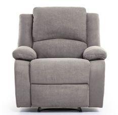 Fauteuil relaxation manuel microfibre gris Confort
