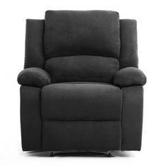 Fauteuil relaxation manuel microfibre noir Confort