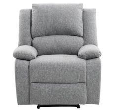 Fauteuil relaxation manuel tissu chiné gris clair Rilax