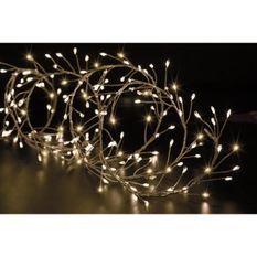 FEERIC LIGHTS & CHRISTMAS BOA extérieur Copper - 400 LED - Fil transparent - 5m