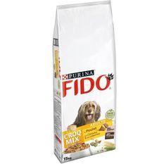 FIDO CroqMix - Boeuf, céréales et légumes - Pour chien adulte - 15 kg