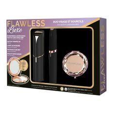 FLAWLESS - Coffret Epilateurs - Epilateurs Visage + Sourcils + Brosse de Nettoyage + Miroir Offert - USB Rechargeable