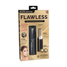FLAWLESS - Epilateur Visage - USB Rechargeable - 2 Tetes de Remplacement - élimine le duvet en douceur en un instant - Noir