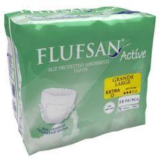 FLUFSAN Culottes absorbantes Active large pour incontinence jour x14