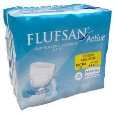 FLUFSAN Culottes absorbantes Active medium pour incontinence jour x14