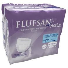 FLUFSAN Culottes absorbantes extra-large pour incontinence nuit x14