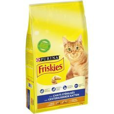FRISKIES Croquettes - A la dinde et aux légumes - Pour chats stérilisés - 7,5 kg