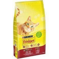 FRISKIES Croquettes - Au boeuf, poulet et aux légumes - Pour chat adulte - 7,5 kg