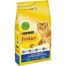 FRISKIES Croquettes - Au saumon et aux légumes - Pour chat stérilisé - 4 kg