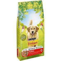 FRISKIES Croquettes Vitafit Active au boeuf- Pour chien adulte - 10 kg