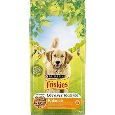 FRISKIES Croquettes Vitafit Balance - Au poulet et légumes ajoutés - Pour chien adulte - 10 kg