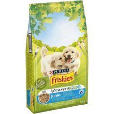 FRISKIES Croquettes Vitafit Junior - Au poulet, avec du lait et des légumes ajoutés - Pour chiot - 10 kg